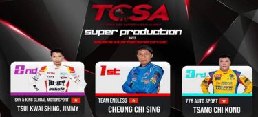 TCSA first station R1 & R2 Speedline capture 1st 2nd & 3rd positions